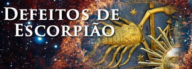 defeitos de escorpião